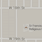 map to Saint Francis Church